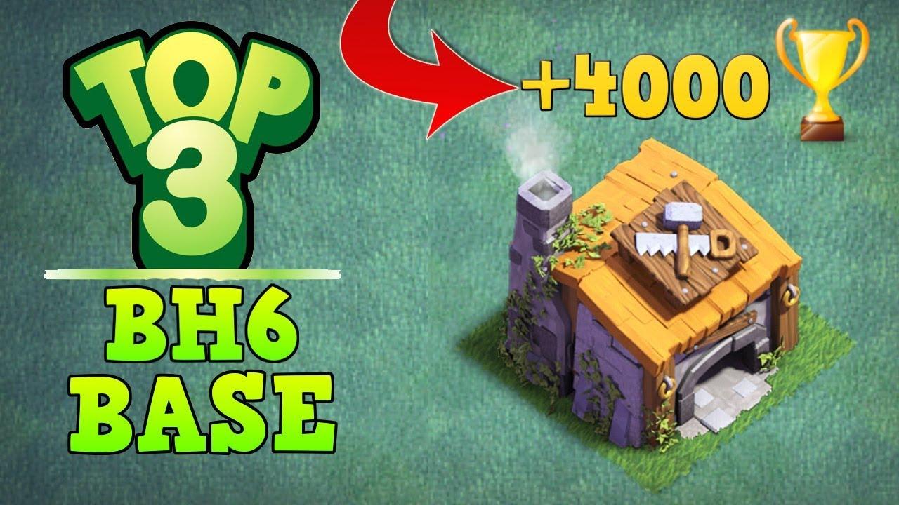 Top 3 Best Builder Hall 6 Base 4000 Trophy Coc Bh6 Builder Base