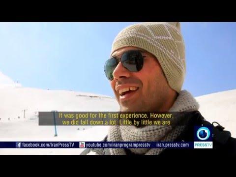 Iran Snow fun in Ab-Ali ski resort دوستداران برف در پيست اسكي آبعلي ايران