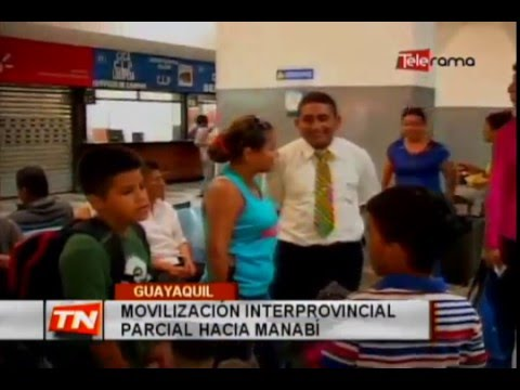 Movilización interprovincial parcial hacia Manabí