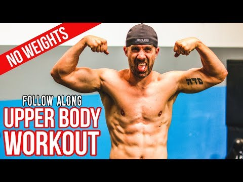 UPPER BODY Workout Without Weights - Follow Along