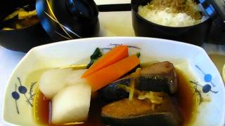 ANA Business Class Staggered service Narita-JFK ANA全日空ビジネスクラス機内食