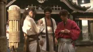 A clip from Rurouni Kenshin BTS. Takeru Sato, Emi Takei and Munetak...