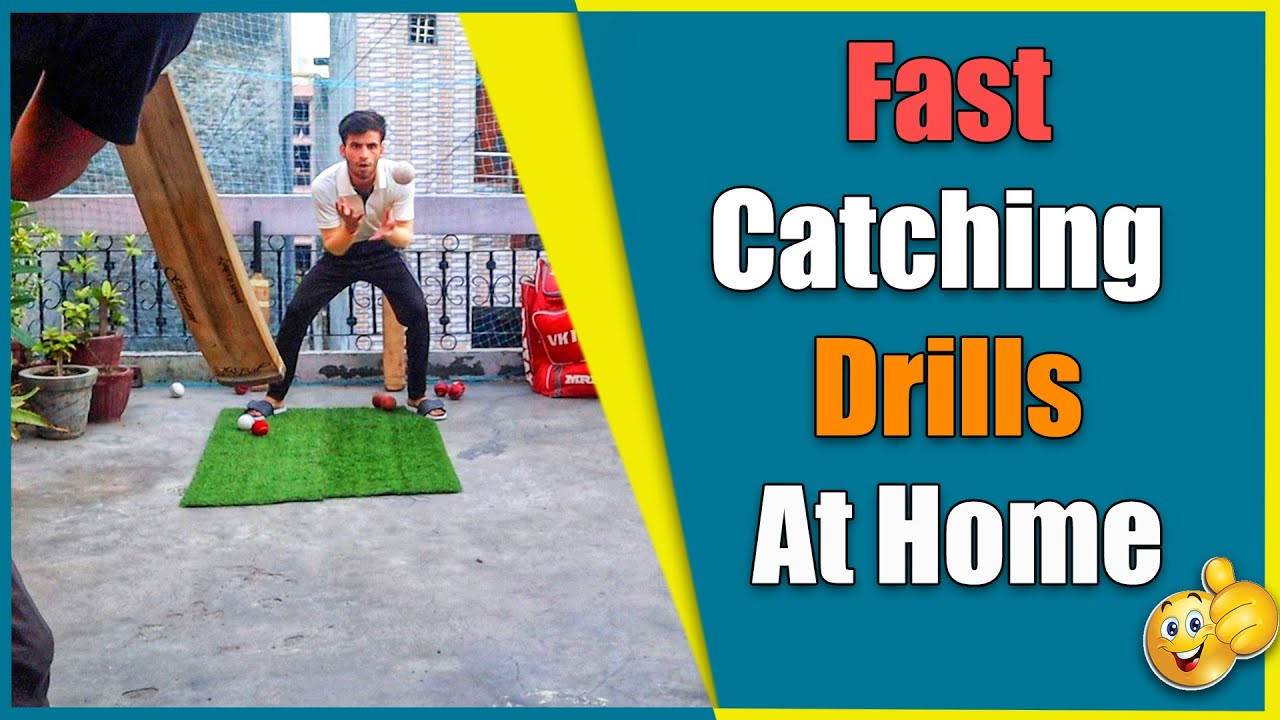 Best 4 Fast Catching drills at Home !! How to Practice Catches at home !!