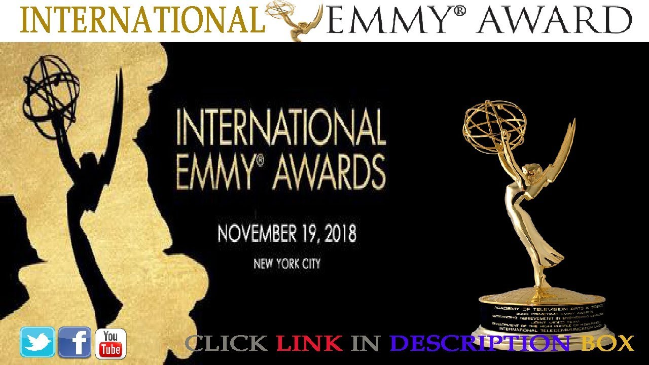 Image result for the 46th international emmy awards 2018 live pic logo