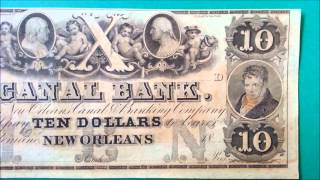 $10 1860+ Note - CANAL BANK - Canal & Banking Co - New Orleans - US CURRENCY COLLECTION