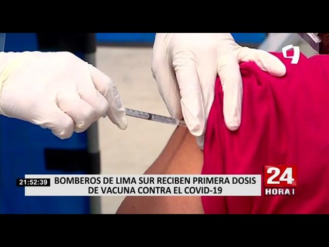 1300 bomberos de Lima Sur se vacunan