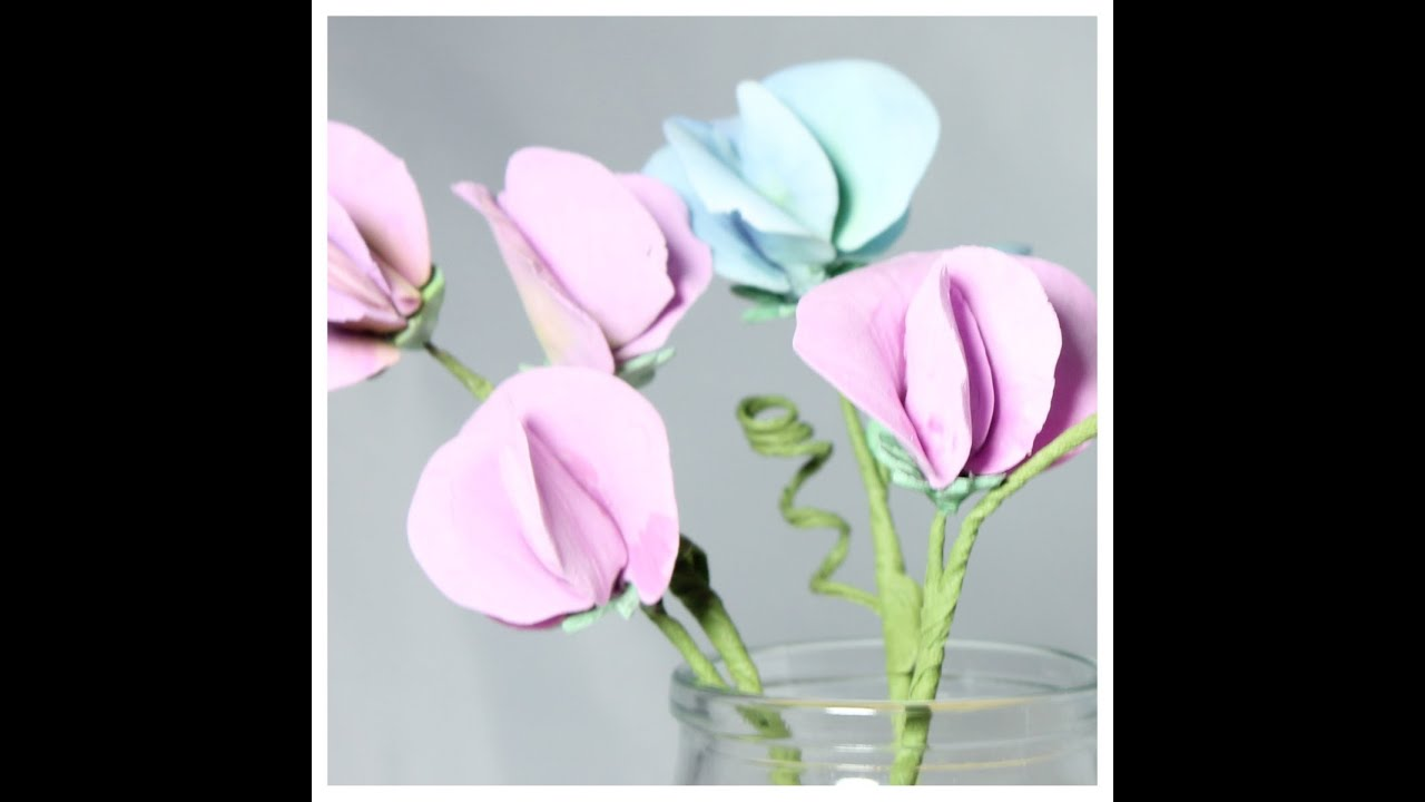 Sweet Pea Flowers Sugar Paste Flowers Cake Decorations Pastry Classes