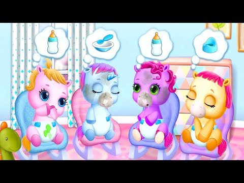 Baby Pony Sisters Care Kids Game - Fun Virtual Pet Care, Horse Nanny \u0026 Dress Up Games For Babies