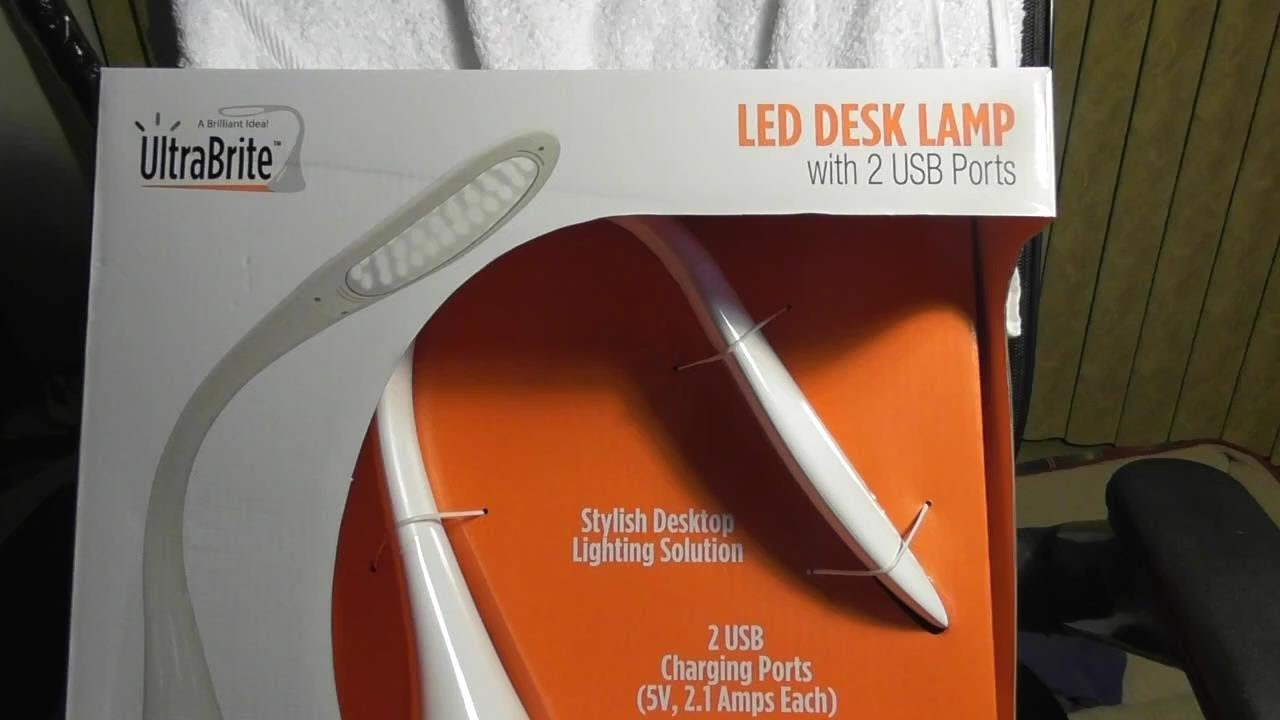 UltraBrite LED Desk Lamp Model #SL9067 Costco Item# 1055778 REVIEW