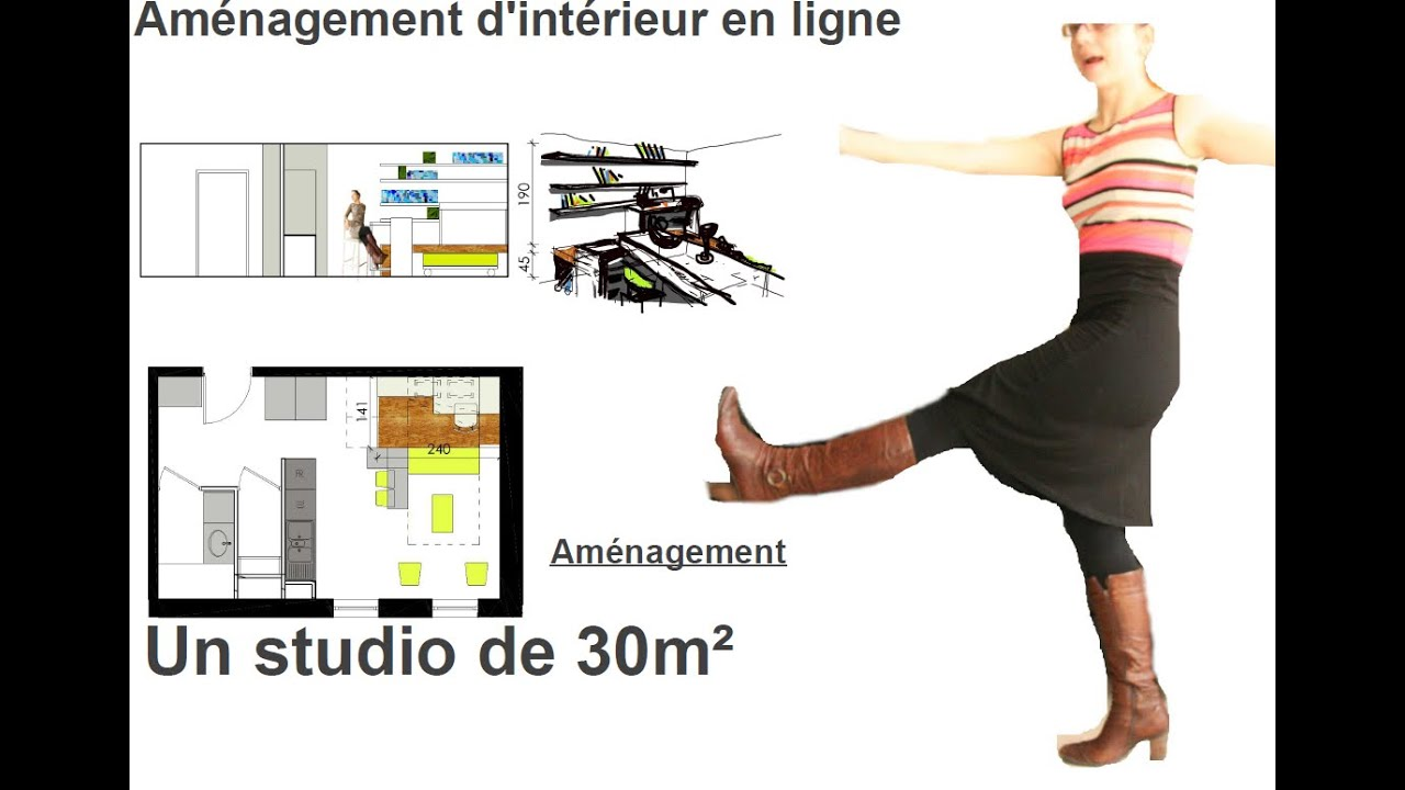 Comment amenager un studio de 30m2 youtube - Rangement petit appartement ...