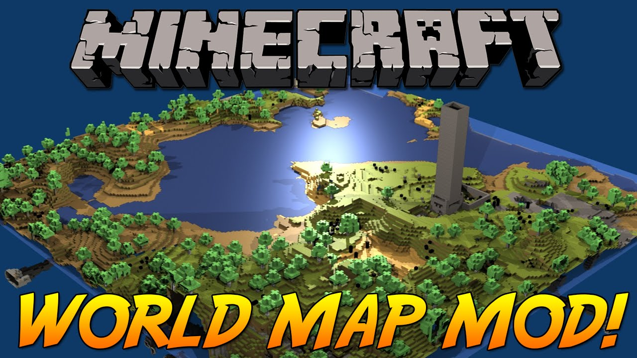 EPIC WORLD MAP MOD! - Trace Your Footsteps! | Minecraft Mod Showcase!