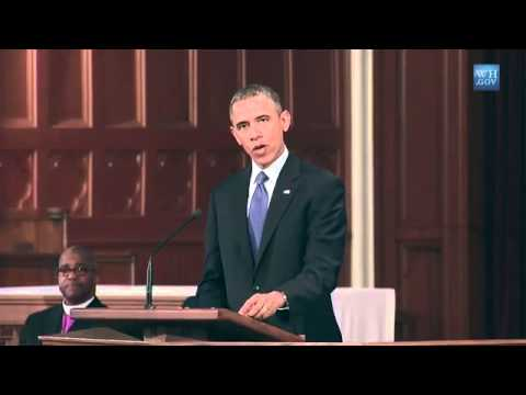 President Obama Speaks at an Interfaith Prayer Service in Boston - YouTube