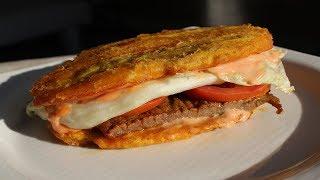 Authentic Puerto Rican JIBARITO Recipe  Delicious Steak Sandwich with Plantain Bun