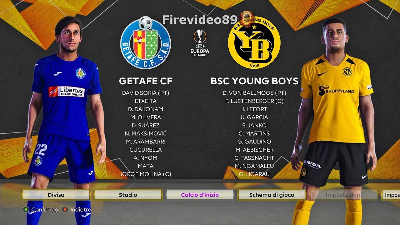 Pes 2021 Europa League • Getafe vs Young Boys - YouTube