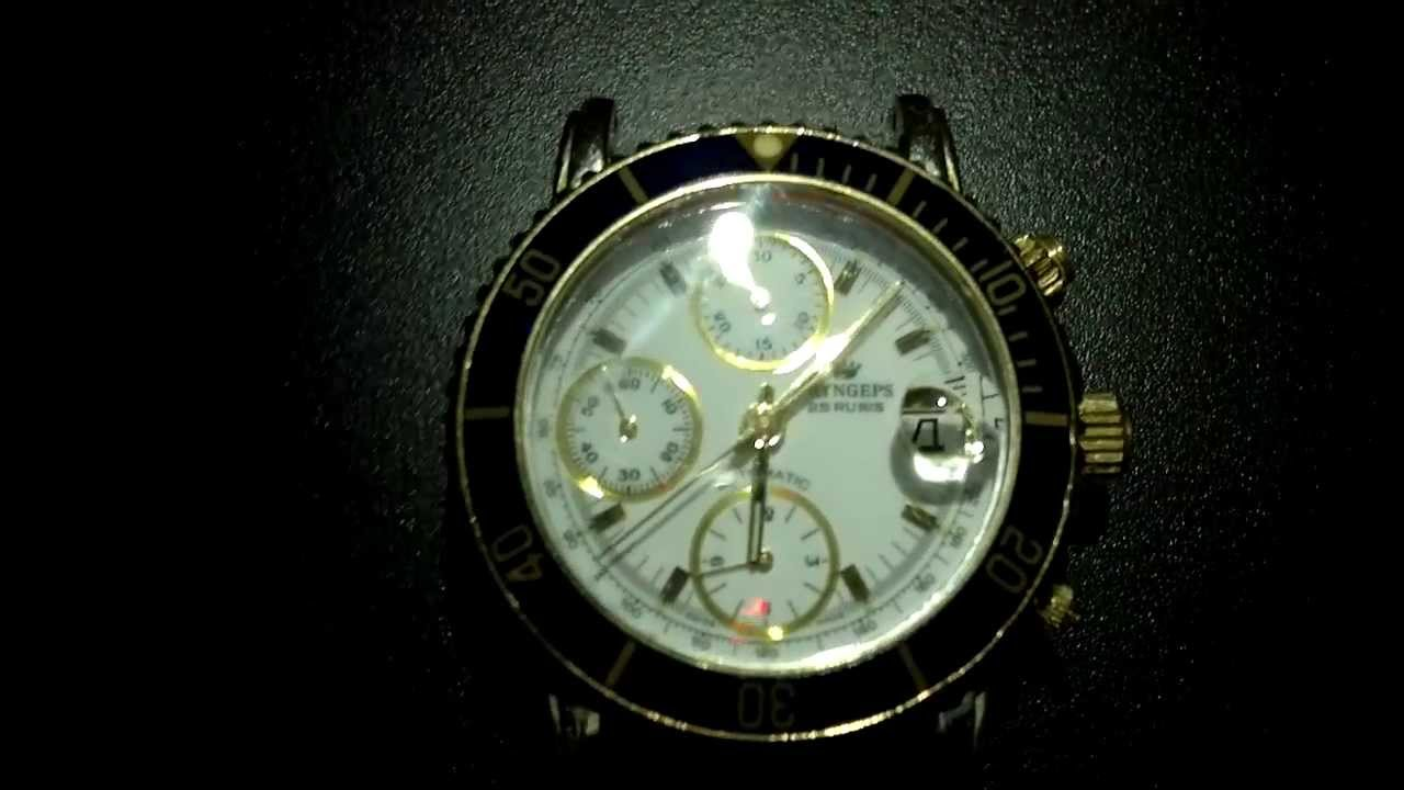 c32d5459c6e Orologio Pryngeps Cronografo Automatico Valjoux 7750 - 25 Rubis CR759 CR 759