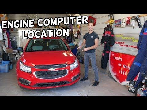 WHERE THE ECU ECM ENGINE COMPUTER IS LOCATED ON CHEVROLET CRUZE CHEVY SONIC  ECU DME ECM