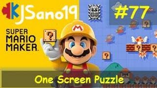 Super Mario Maker - One Screen Puzzle - 77 - SeanHip2 - Heads Up and Over the Edge