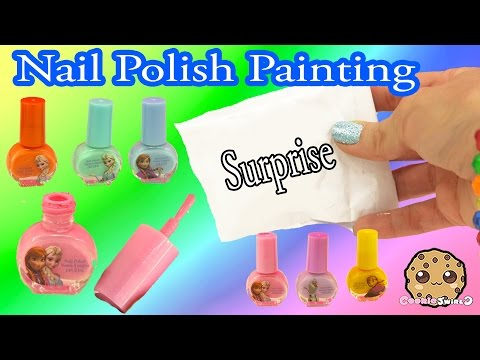 Rainbow Painting With Disney Frozen Nail Polish A Surprise Handmade Blind Bag - Cookieswirlc