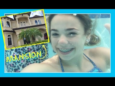 POOL TRICKS AT THE MANSION & MASSIVE SLEEPOVER | Flippin' Ka