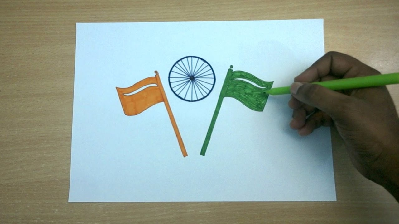 Republic Day Drawing Happy Republic Day Color Drawing For Kids