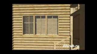 Дом из бревна (сруб) 10х12, проект