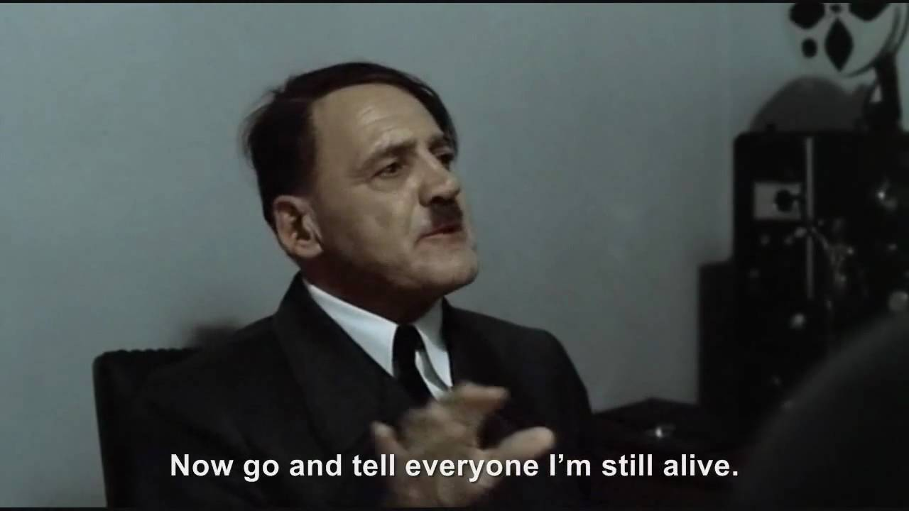 Hitler is informed he is still alive