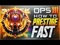 GET THE MOST XP! PRESTIGE FASTER IN BLACK OPS 3! BEST PRESTIGE CLASS! (BO3 Prestige Fast Tips)