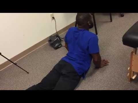 Superman Back Exercise After Massage With Joseph At Advanced Chiropractic Relief LLC