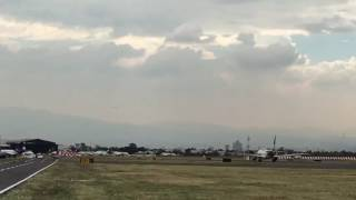 Aterrizaje B787-9 Quetzalcóatl, AeroMexico.