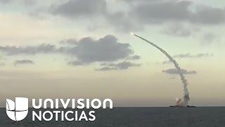 EEUU lanza decenas de misiles a una base aérea en Siria en respuesta al