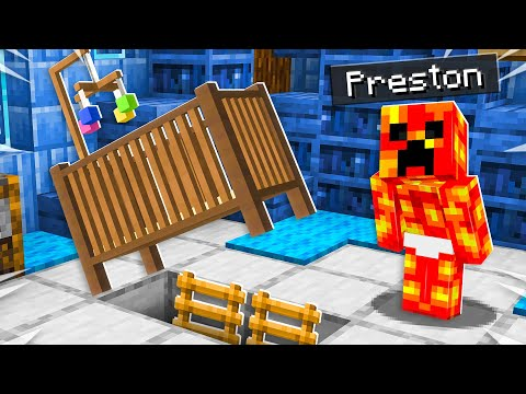 I Found Baby Preston's Secret Minecraft House!