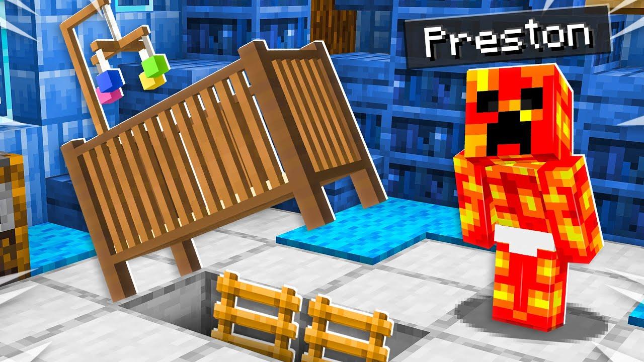 I Found Baby Preston U0026 39 S Secret Minecraft House