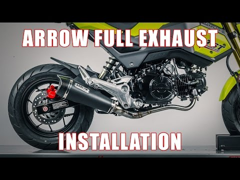 How to install Arrow Full Exhaust on a 2017+ Honda Grom by