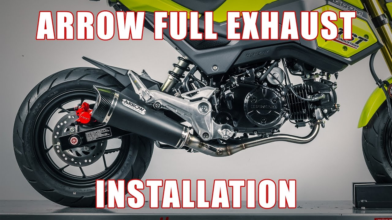 How to install Arrow Full Exhaust on a 2017+ Honda Grom by TST Industries