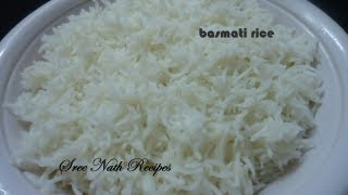 How To Cook  Basmati Rice - Basic Recipe For Beginners.