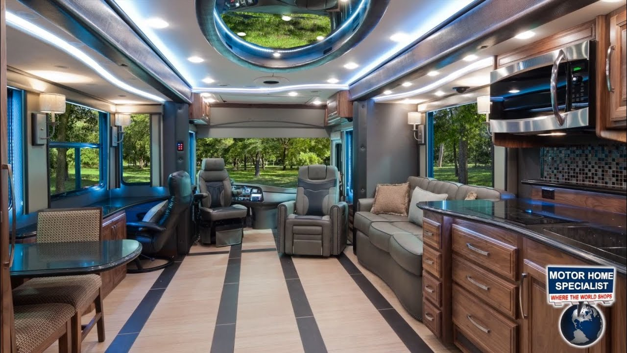 2014 foretravel ih45 luxury rv review at youtube for Million dollar motor coaches