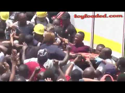 Watch The Moment A Child Was Rescued Alive From The Lagos School Building Collapse (Video)