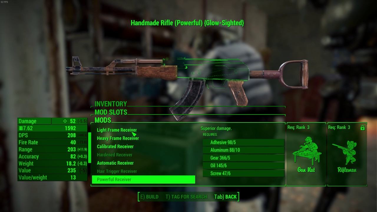 fallout 76 handmade rifle mods solved fallout 4 handmade rifle is weak is this a 4779