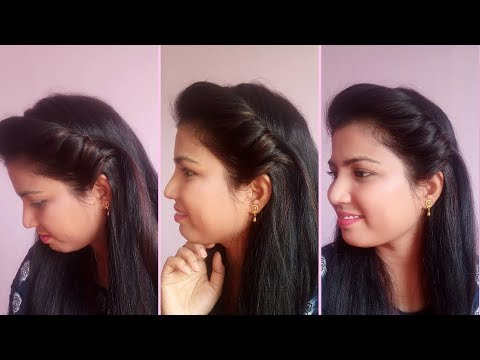 How to make perfect side puff//1 min easy side puff hairstyle//side puff tutorial thumbnail