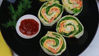 অল্প উপকরনে ভীষন মজার টিফিন/নাস্তা- পিনহুইল স্যান্ডউইচ | Pinwheel Sandwich |Easy Pinwheel Sandwich