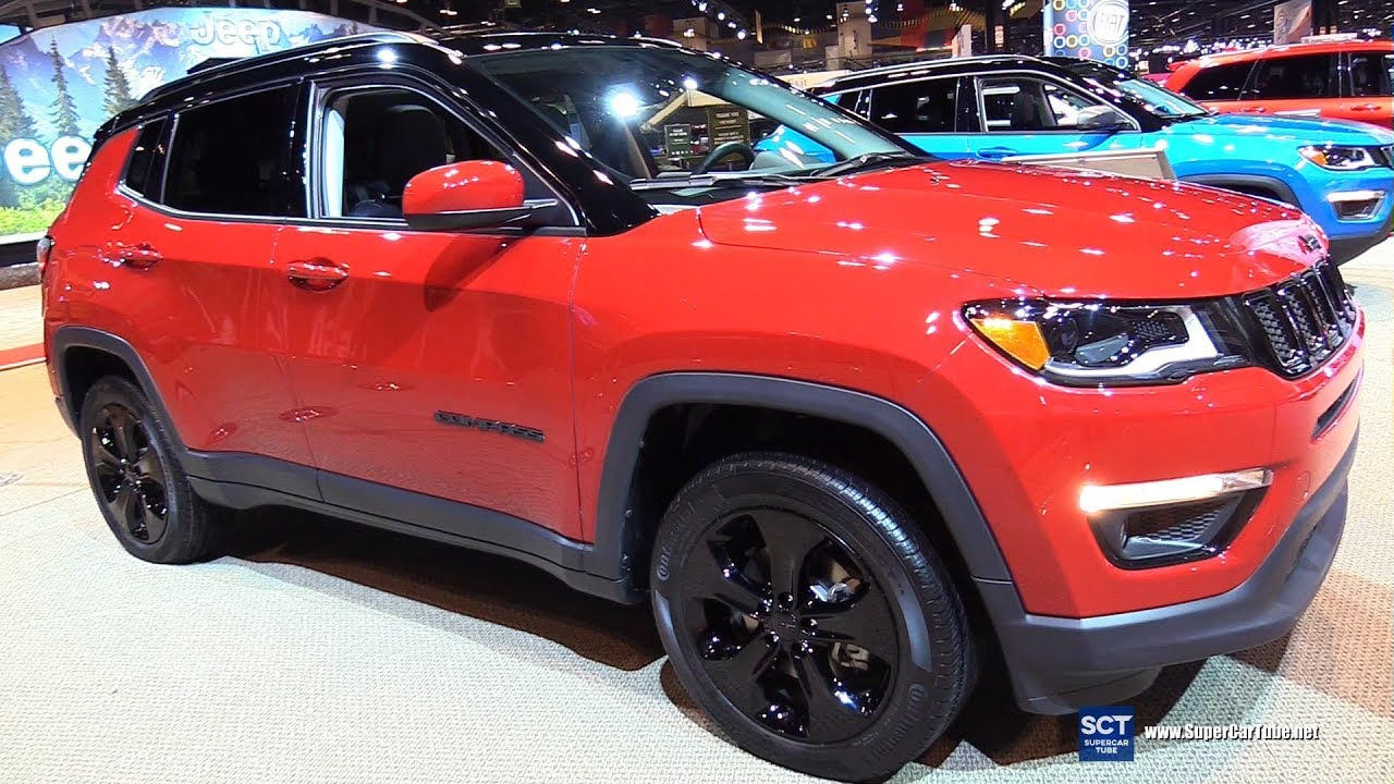 Red Jeep Compass 2018 Interior