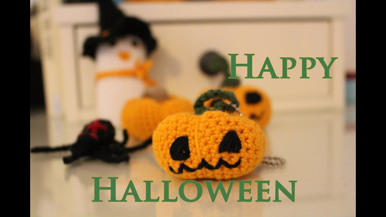 Halloween Kürbisanhänger Häkelanleitung DIY - YouTube