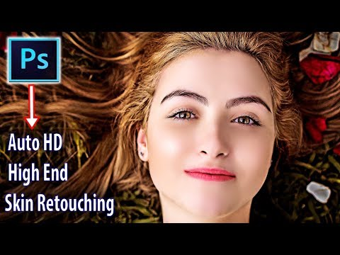 High End Retouching Skin in Photoshop - Face Whitening + Clean Remove Blemishes