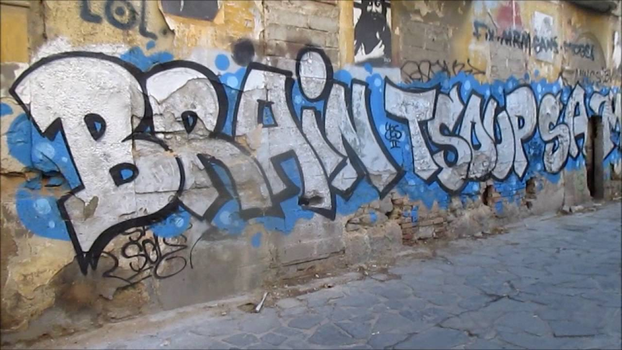 Athens Greece City Center Graffiti Vandalism