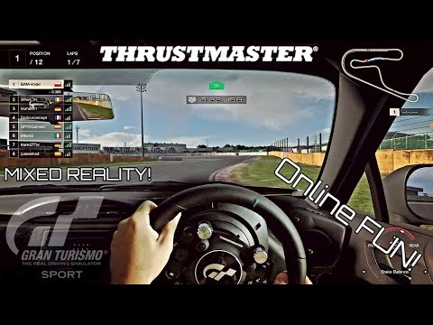 Gran Turismo Sport Online Race - MIXED REALITY Racing With Thrustmaster T-GT!