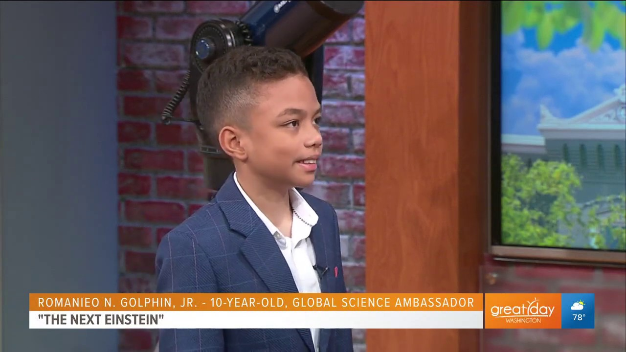 WASHINGTON, DC: 10 YEAR OLD BLACK SCIENTIST