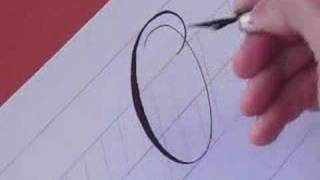 How to Write Copperplate (The Letters O and o)