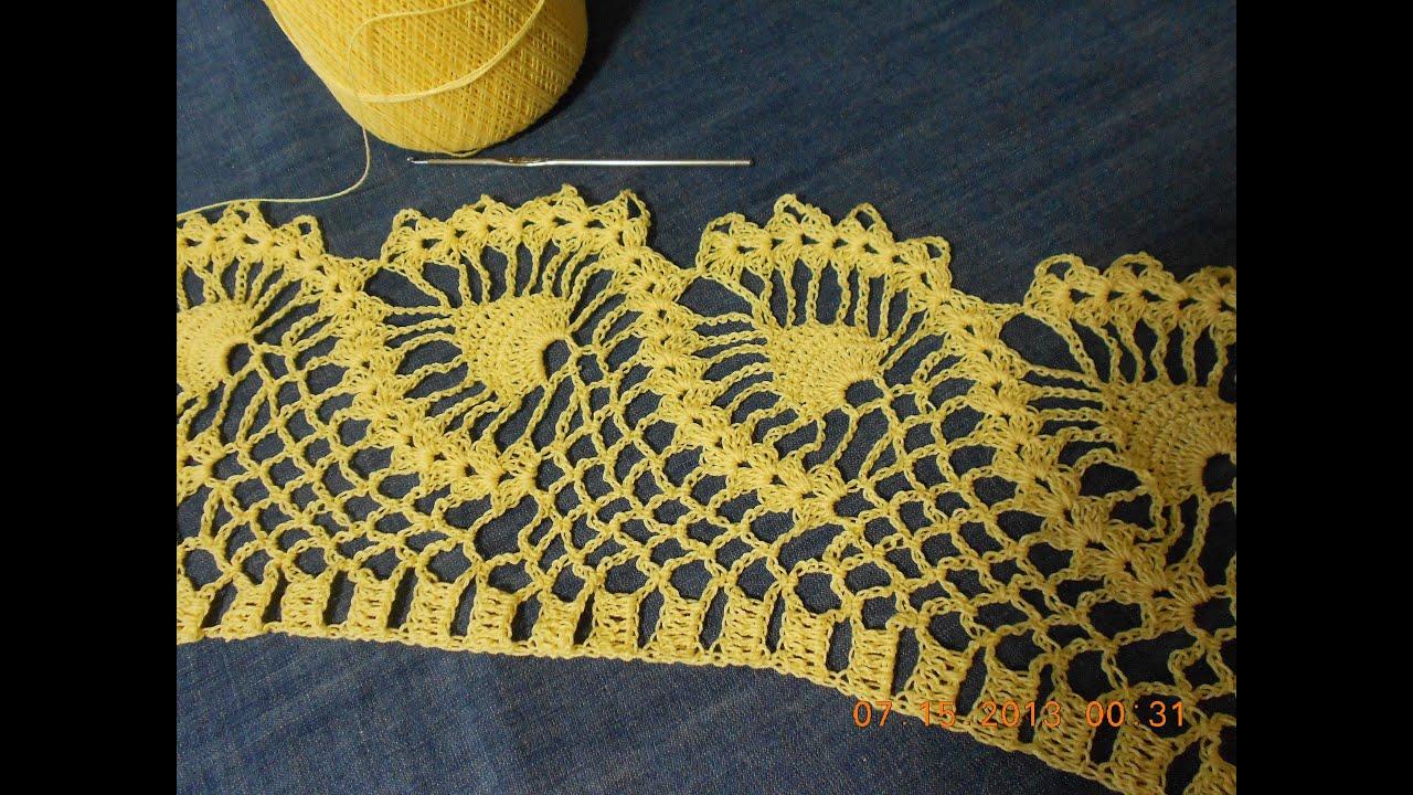 Orillas o puntillas para manteles con patrones a crochet - Mantel de crochet ...