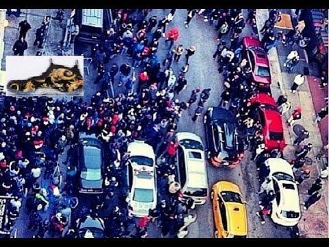 Supreme New York Nike Foamposite Shoe Release NYC Shutdown By NYPD! Dj Delz Sneaker Addict ...