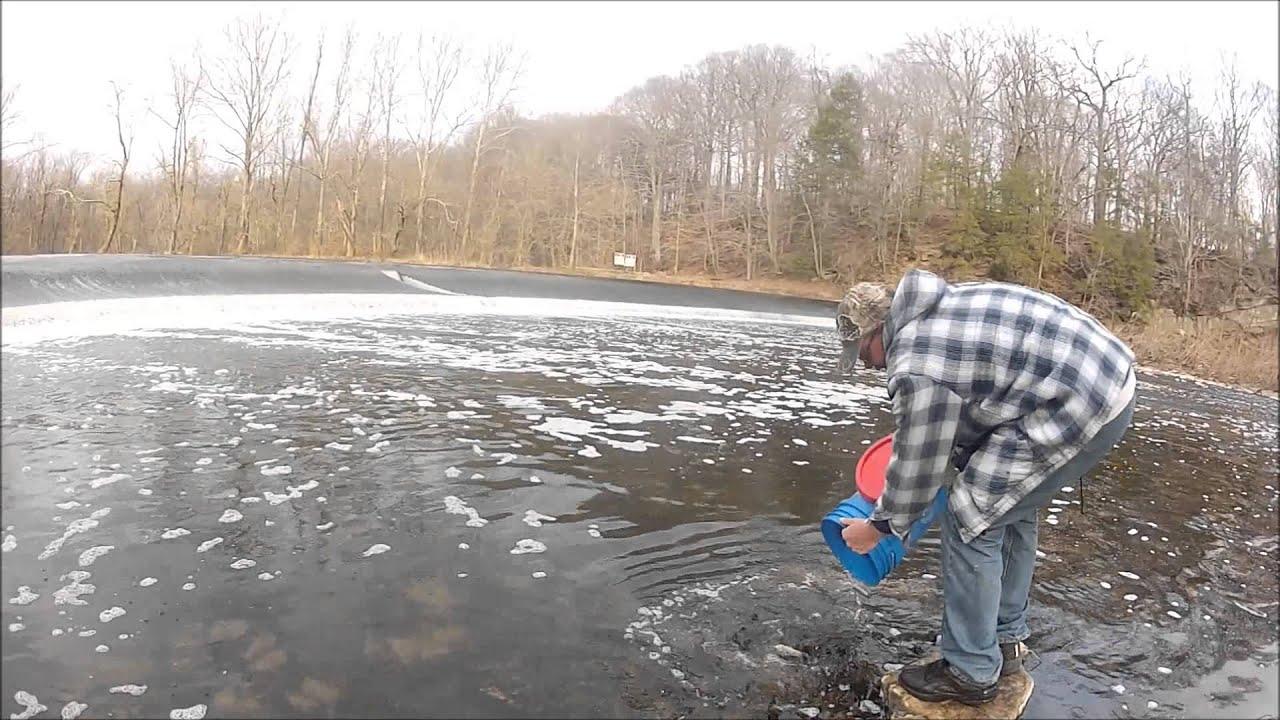 Neshaminy creek trout stocking 2013 youtube for Pa fish stocking